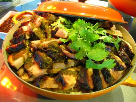 Heritage Pork Porchetta with sauerkraut