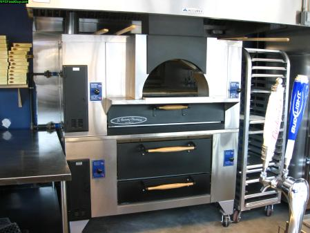 Gas-fired brick ovens will cook all the pizza from The Original Cascarino's of College Point