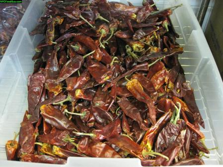 Dried red chile peppers