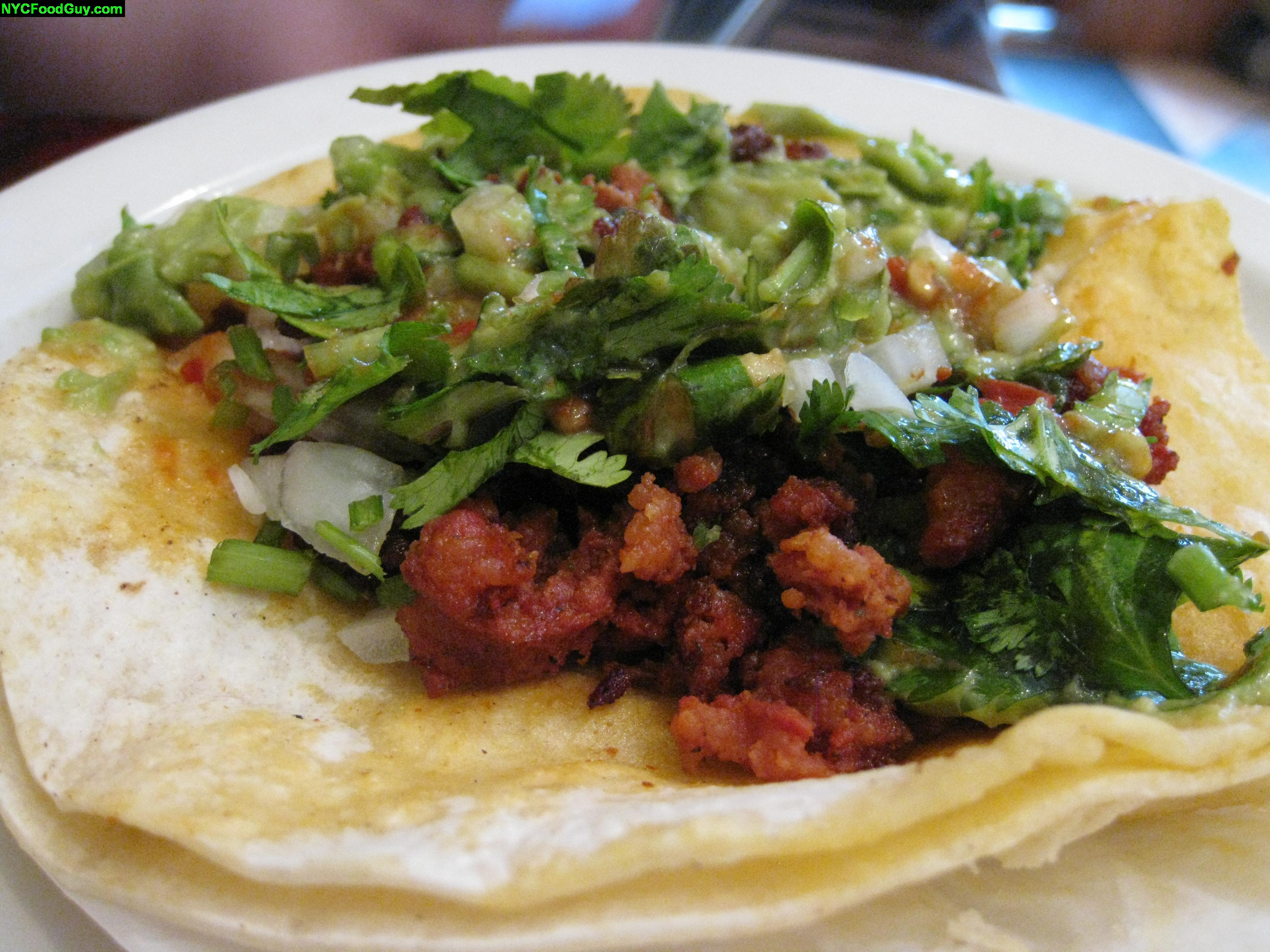 Chorizo is definitely the way to go at Tacos Matamoros