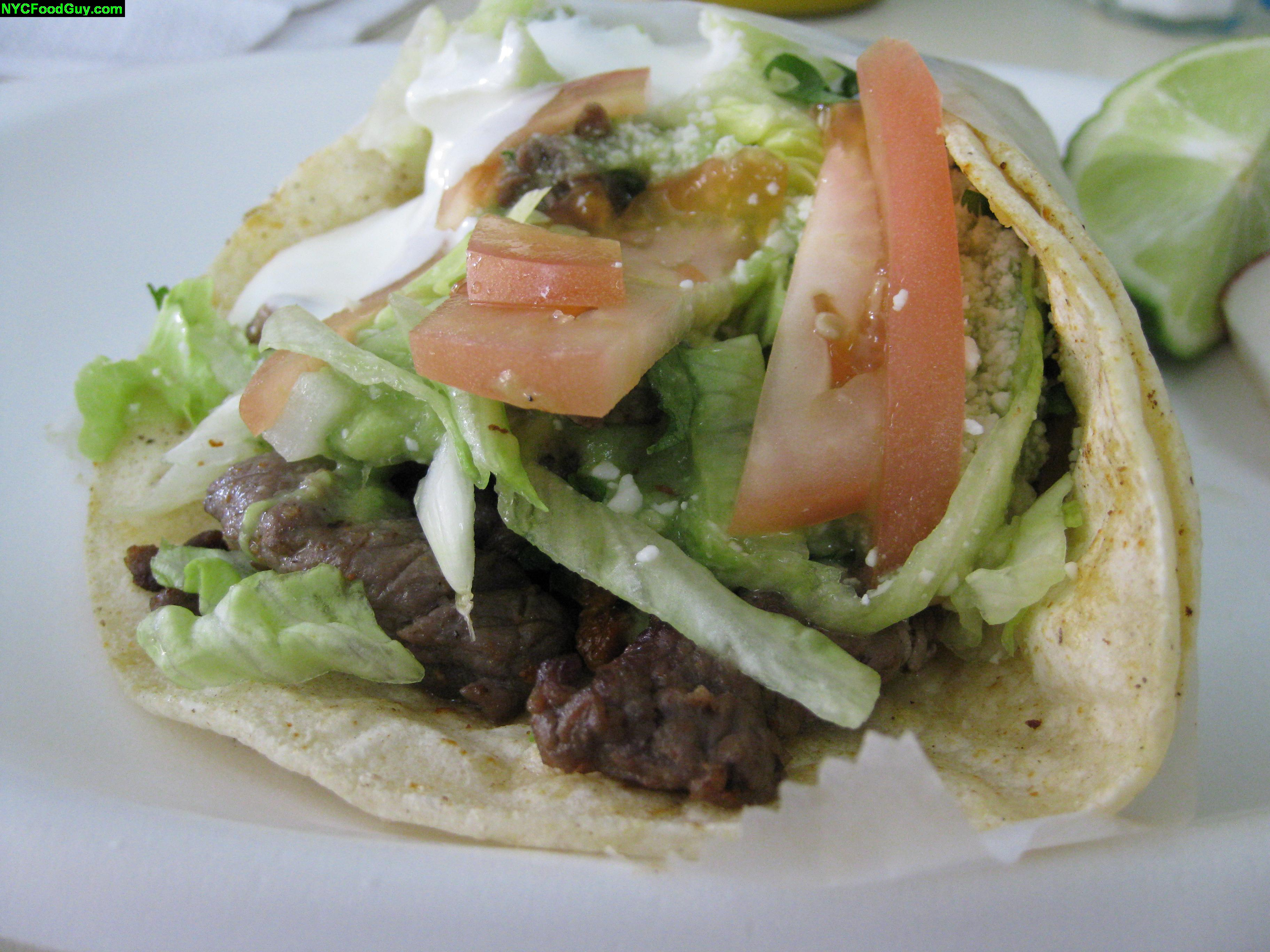 The carne asada taco's combo of queso crema and fresca provided a flavor trip of its own.