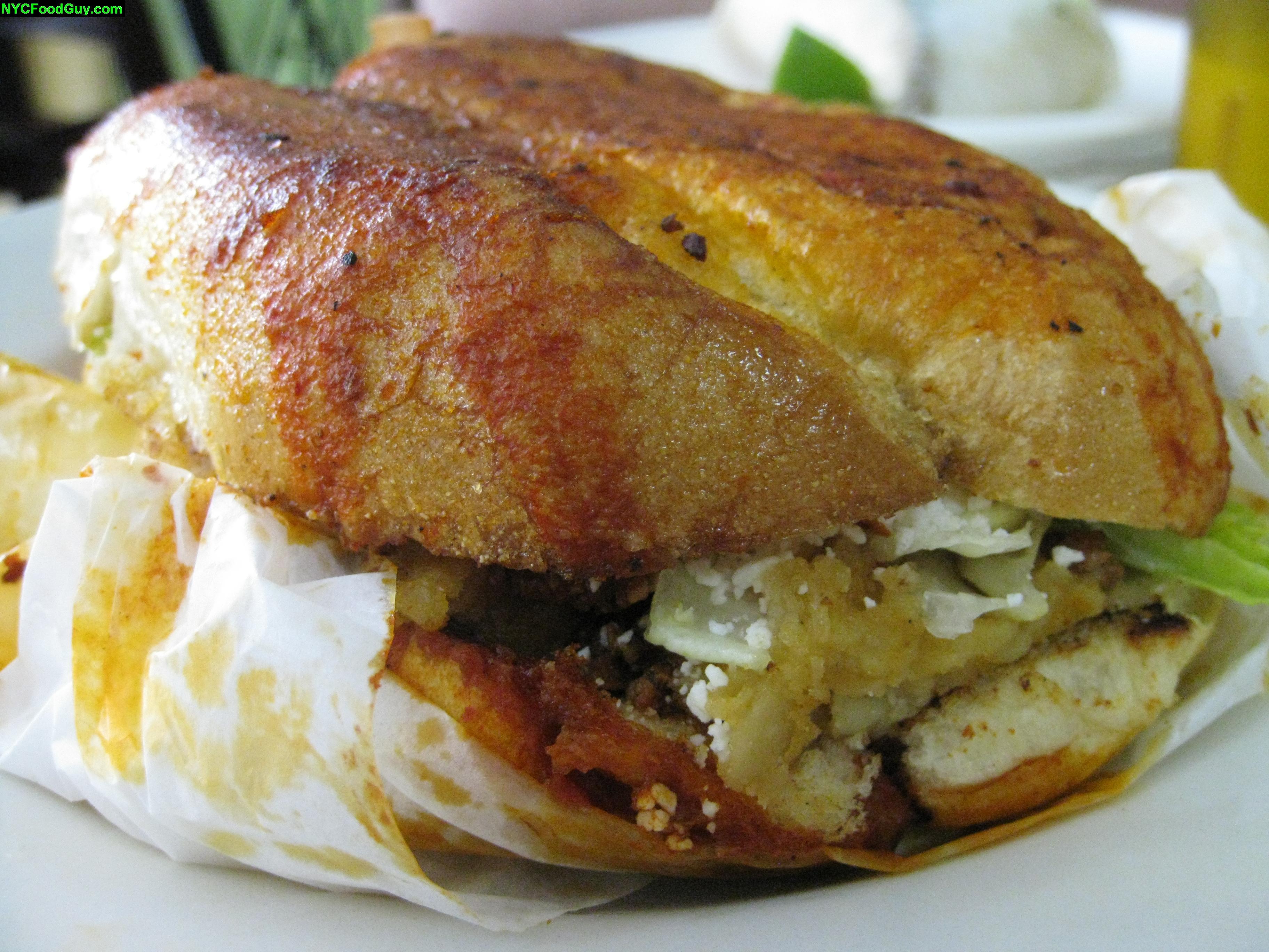 Pambazo ($6.00), a sandwich unlike any I've had before.
