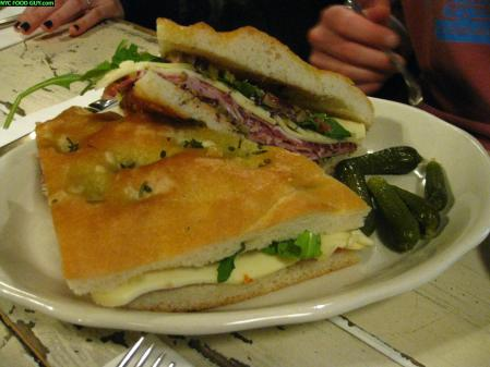 Marlow & Sons Muffaletta ($11) was overwhelmed by olive tapenade